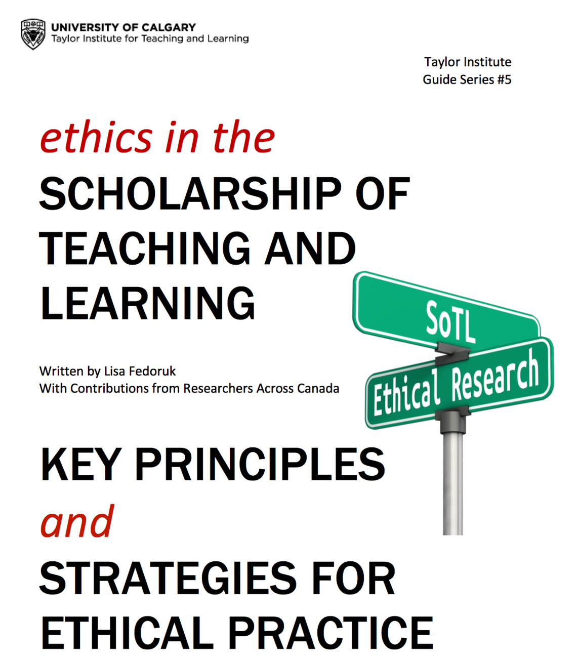 Ethics in The Scholarship of Teaching and Learning